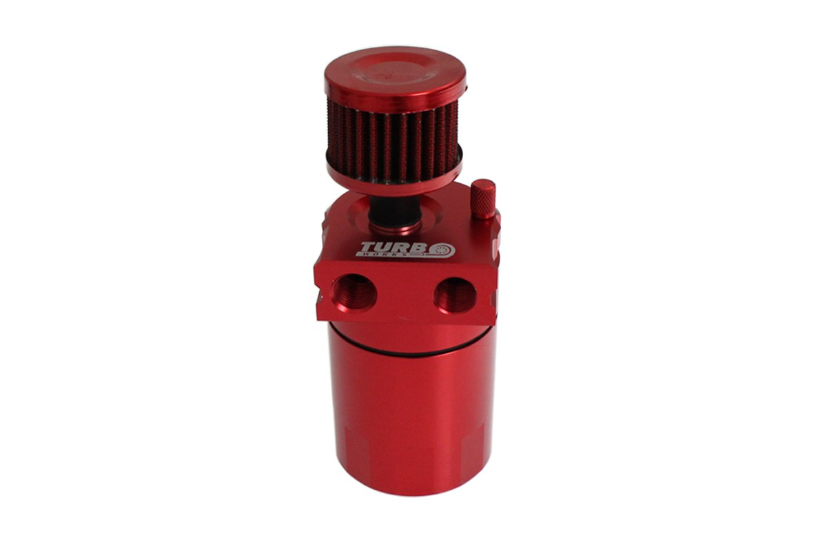 Oil catch tank 0.3L 10mm / 15mm TurboWorks PRO Red - GRUBYGARAGE - Sklep Tuningowy